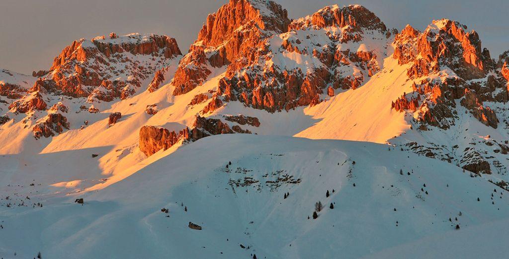 nello spettacolare ambiente delle Dolomiti