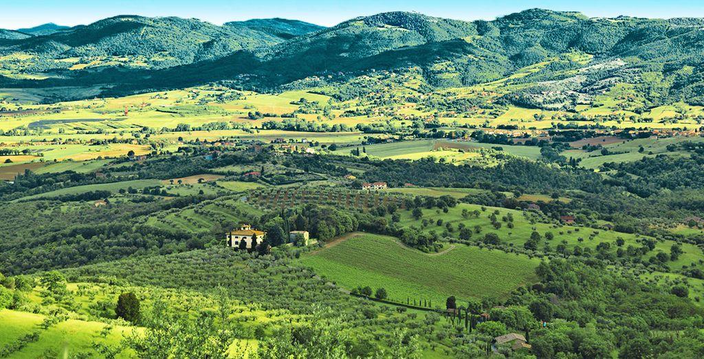 In una location incastonata nel lussureggiante verde delle colline umbre