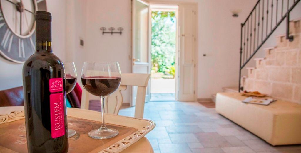 Godete di momenti di relax assaporando i vini tipici salentini