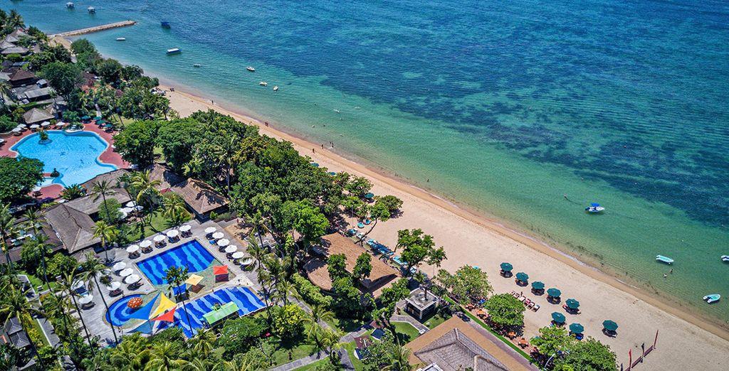 Proseguirete poi per un soggiorno mare presso la località di Sanur sulla bellissima spiaggia di Mertasari