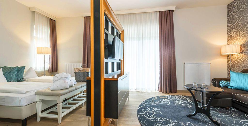 Ampie, luminose e dotate di ogni comfort per rendere il vostro soggiorno indimenticabile