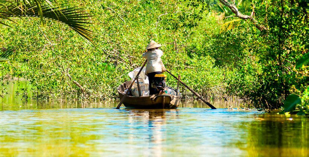 Visitate il Delta del Mekong sulle imbarcazioni tradizionali