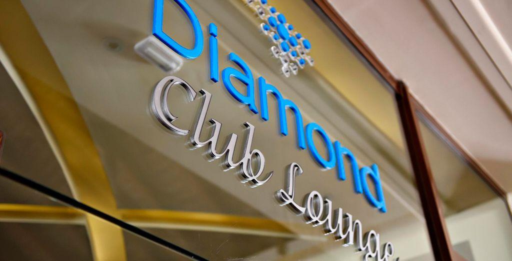 Godetevi i vantaggi esclusivi del Diamond Club, tra cui l'accesso al club lounge privato