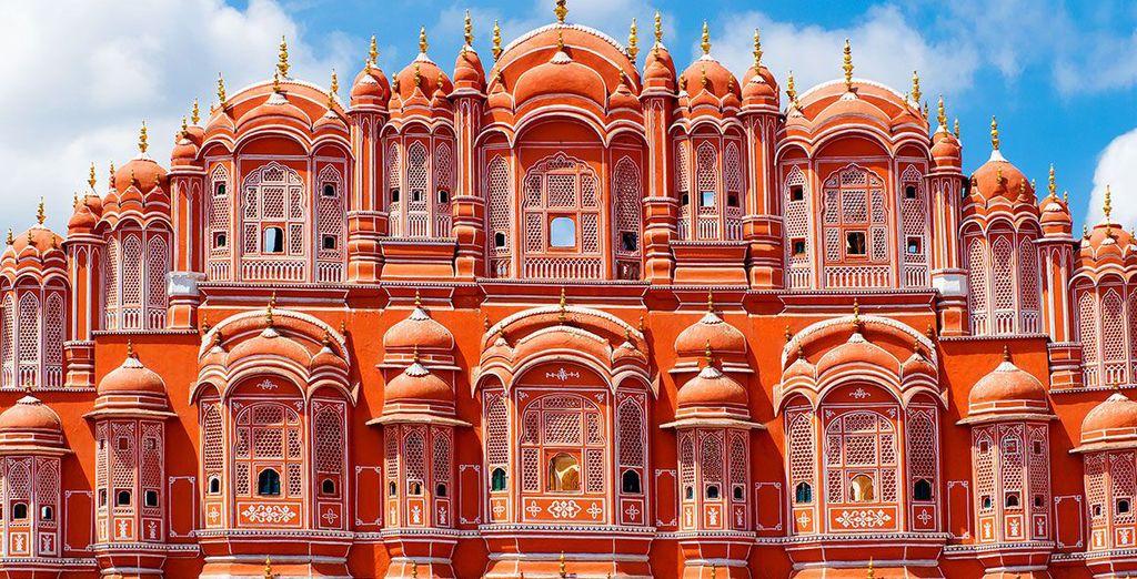 Dove ammirerete la facciata del Palazzo Hawa Mahal, conosciuto anche come Palazzo dei Venti