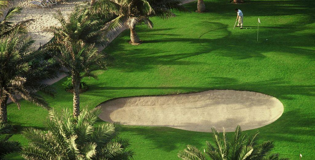 Potrete anche divertirvi con il vicino golf club