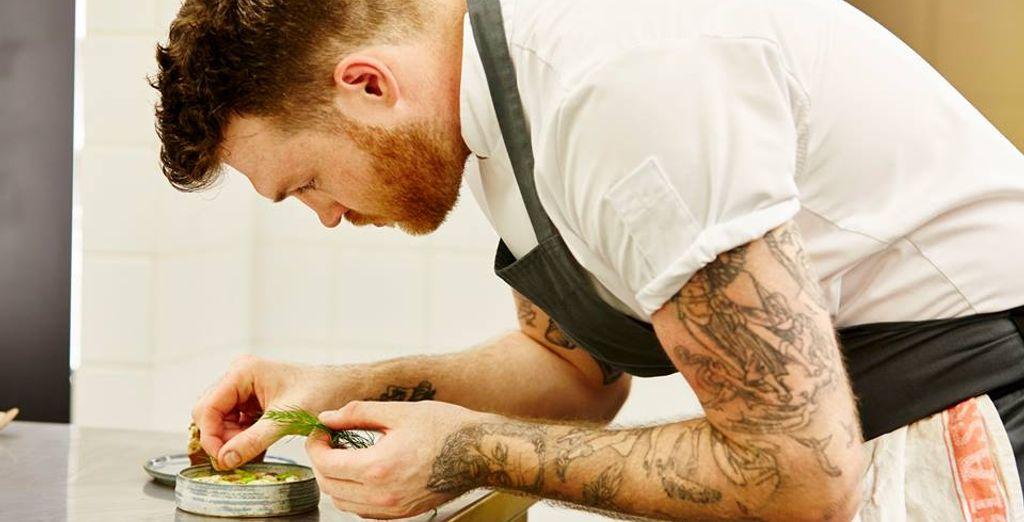 preparati accuratamente dal noto chef inglese Tom Brown