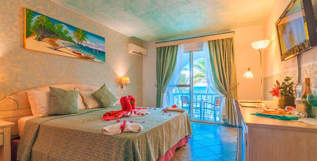Le vostre confortevoli camere vista Oceano saranno l'ideale per il vostro relax