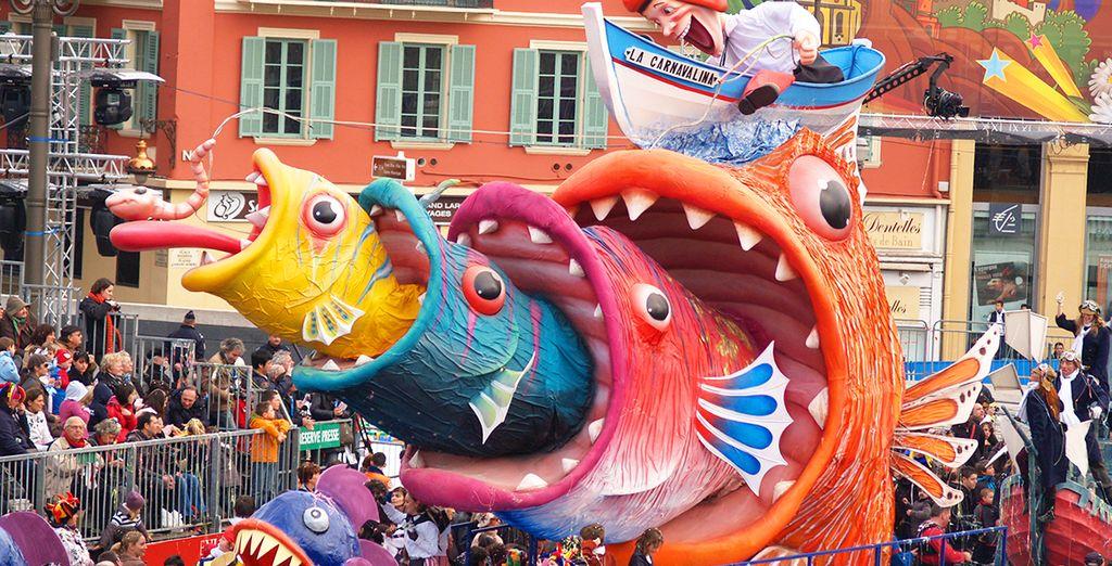 Il famoso Carnevale di Nizza vi aspetta