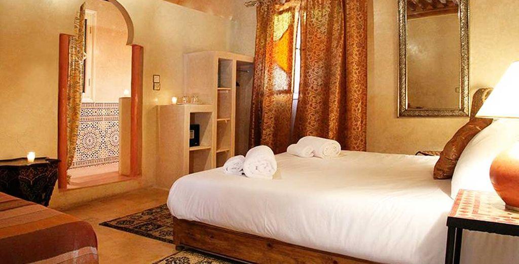 Hotel di lusso a Marrakech con tutti i comfort e letto matrimoniale, nel cuore del Marocco