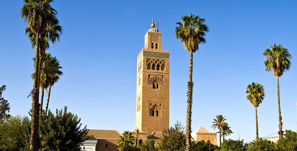 Fotografia del monumento storico: la moschea Koutoubia a Marrakech