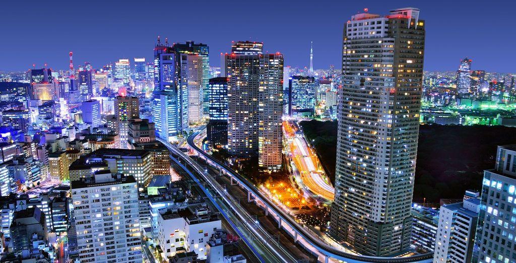 Fotografia della città di Tokyo durante un viaggio in Giappone