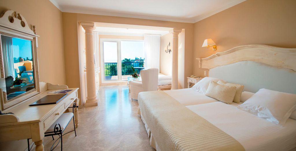 Hotel affascinante con spaziosa camera doppia e vista sul mare di Alboran