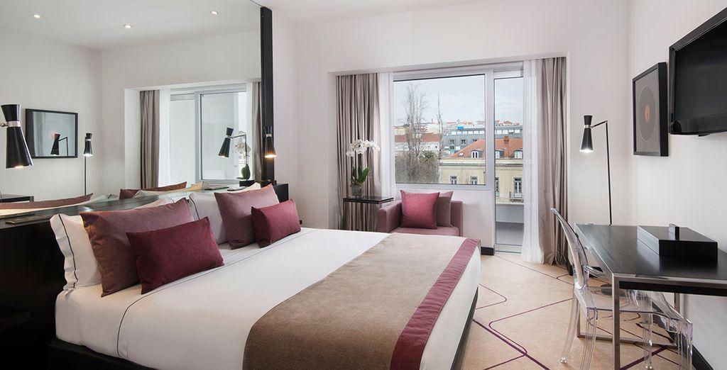 Hotel di lusso con confortevole camera doppia nel cuore di Lisbona