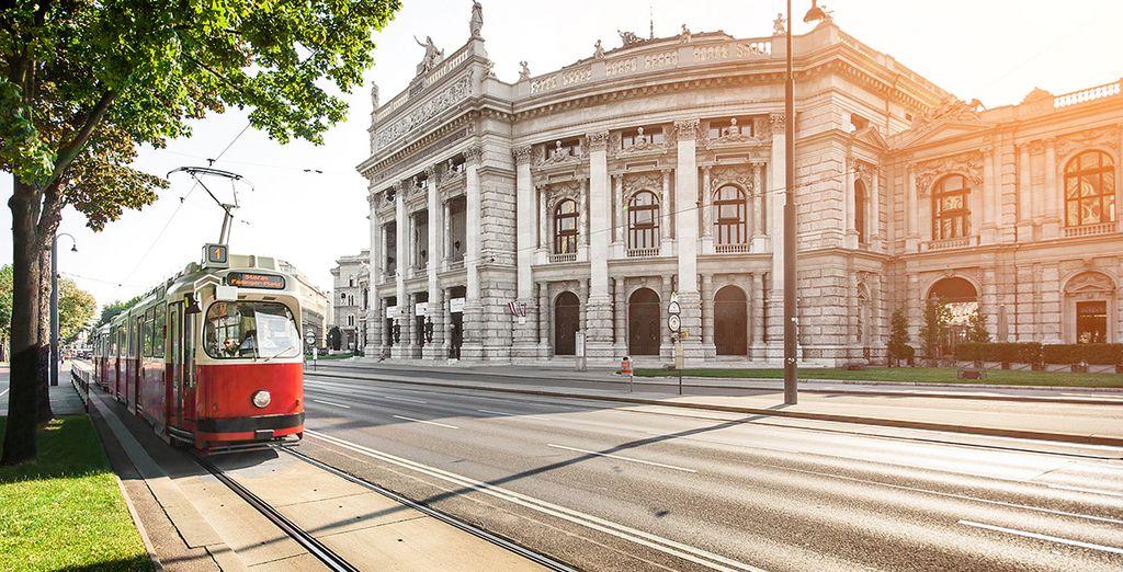 Fotografia di Vienna in Austria e dei suoi mezzi di trasporto pubblico