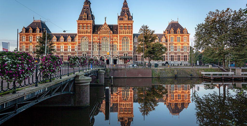 Fotografia delle belle architetture di Amsterdam