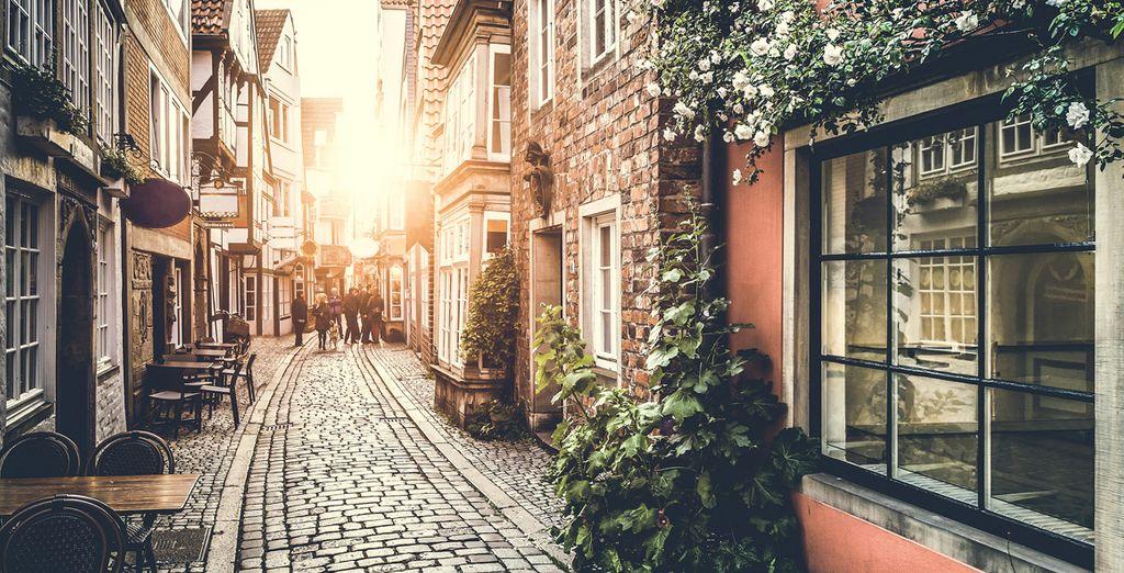 Fotografia delle belle strade di Amsterdam, nei Paesi Bassi