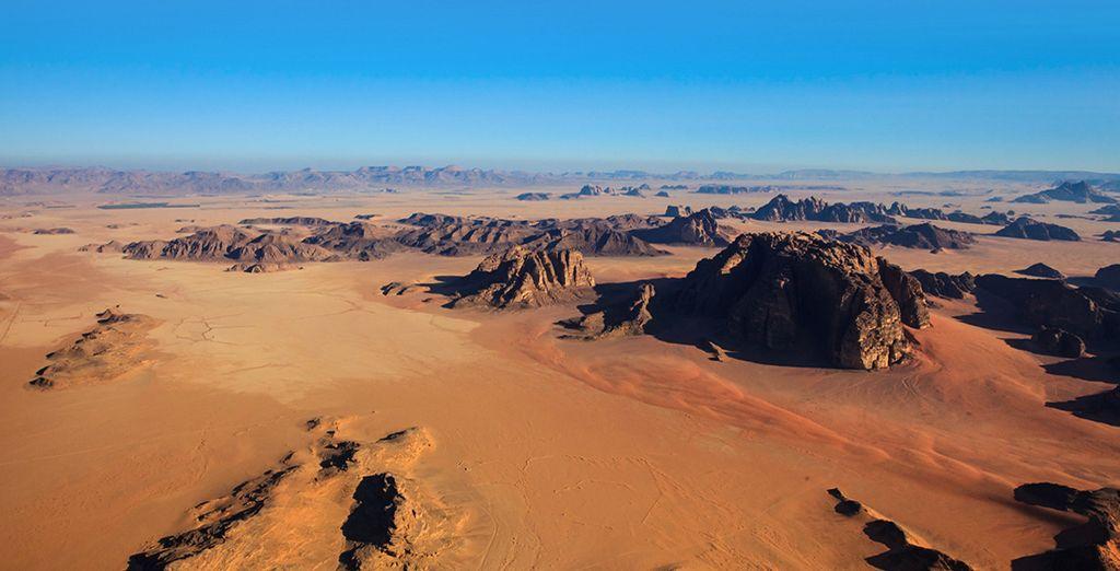 Panorama del deserto Giordano