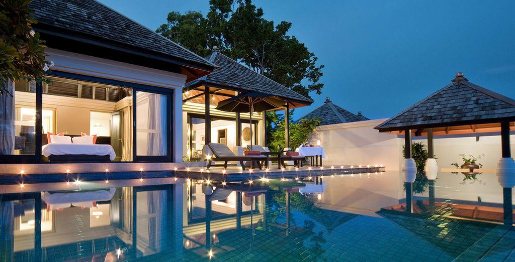La vostra oasi di pace e relax presenta una piscina personale a sfioro tutta per voi