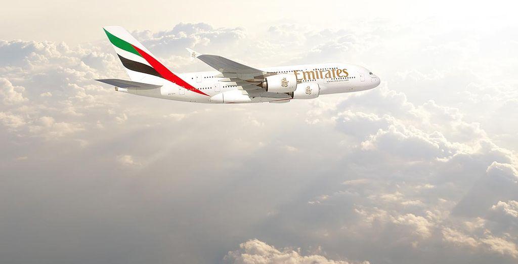 Viaggiate su un esclusivo aereo della compagnia Emirates