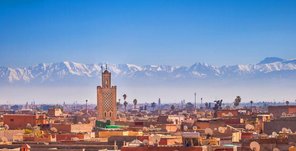 Fotografia della città di Marrakech in Marocco