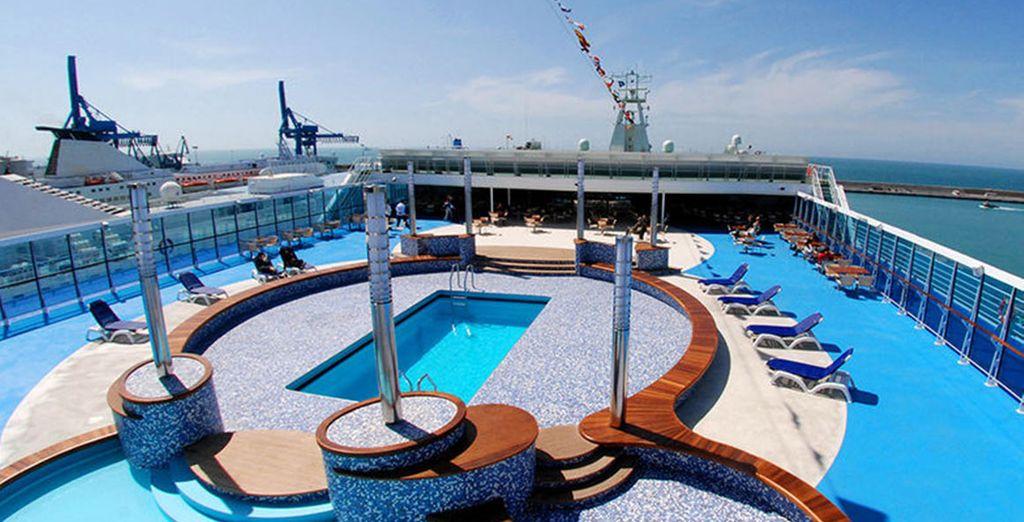 .Sono navi dotate di tutti i comfort per garantire un viaggio piacevole