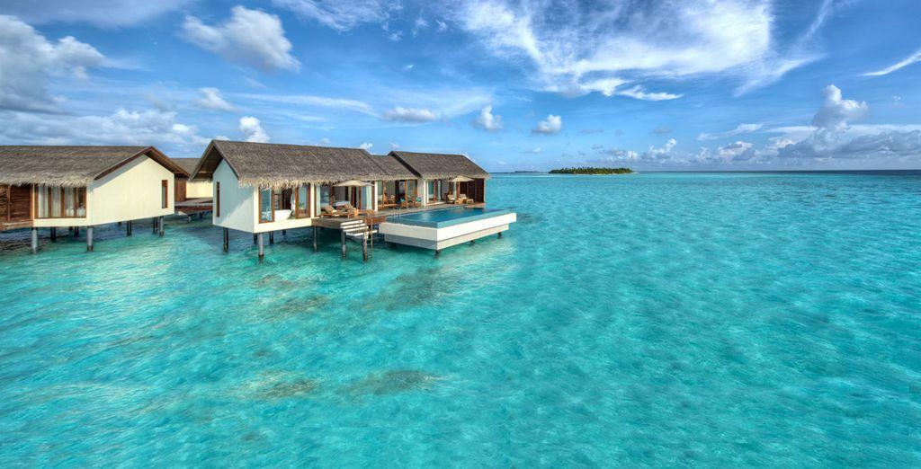 Hotel di alta gamma con piscina individuale e vista mare