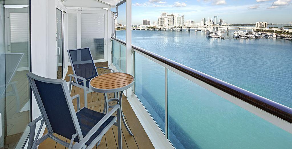 dotate di ampio balcone da cui godersi il panorama