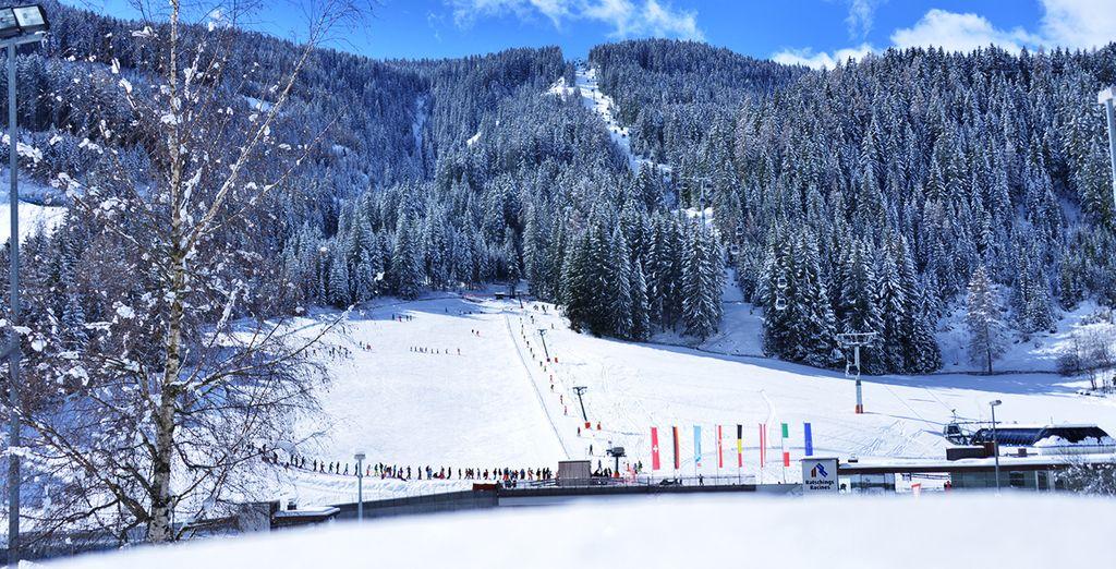 Fotografia delle stazioni sciistiche di Racines in pieno inverno