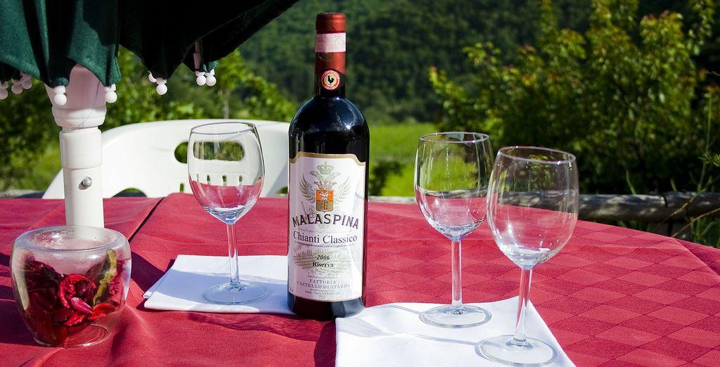 assaporando gli ottimi vini di questa zona