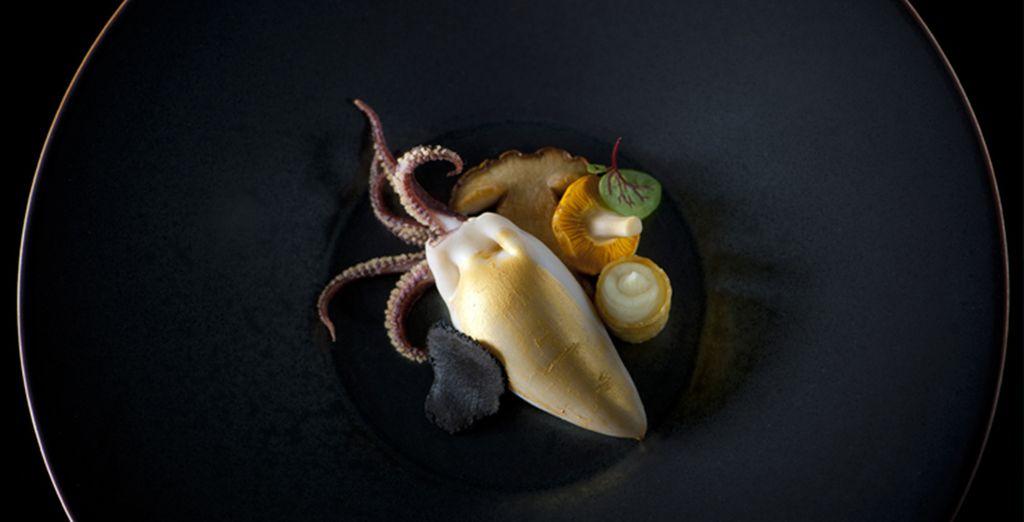 e il suo menù composto da prelibatezze di mare in combinazione con i sapori della terra