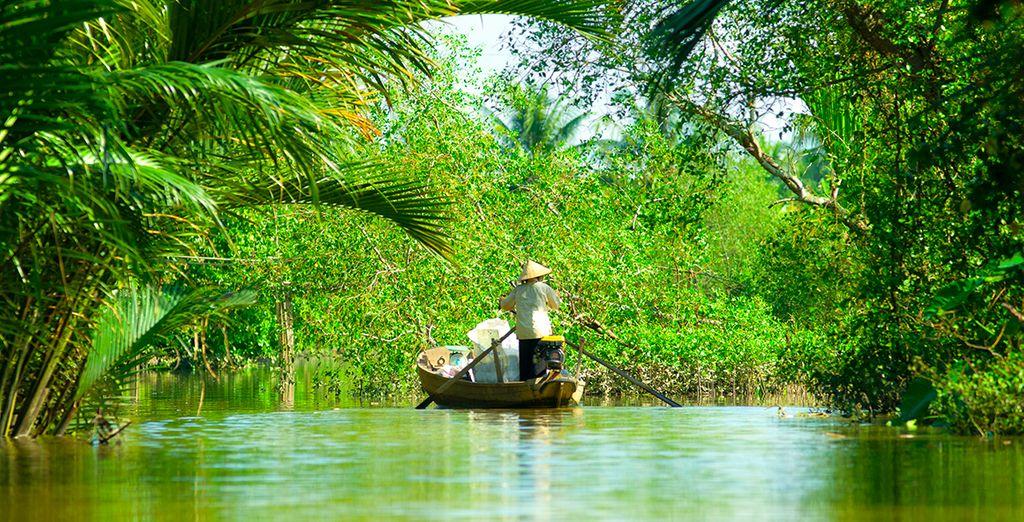 Kies voor een optionele boottocht in de Mekongdelta