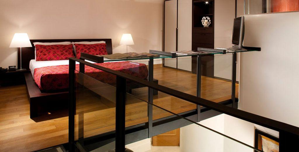 De ruime Suite Criseide heeft 2 badkamers en een apart loungegedeelte
