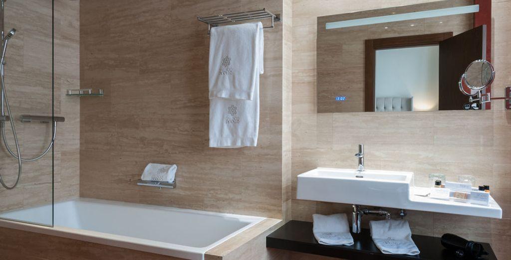 U heeft een moderne badkamer