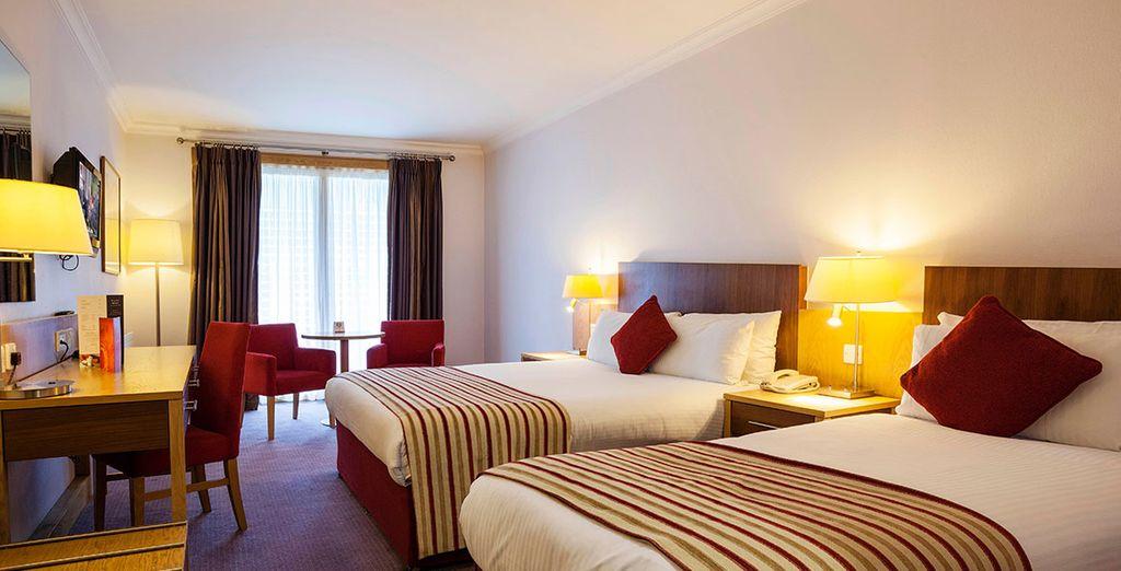 De kamers zijn modern met een stijlvolle inrichting en zullen zorgen voor een rustig verblijf