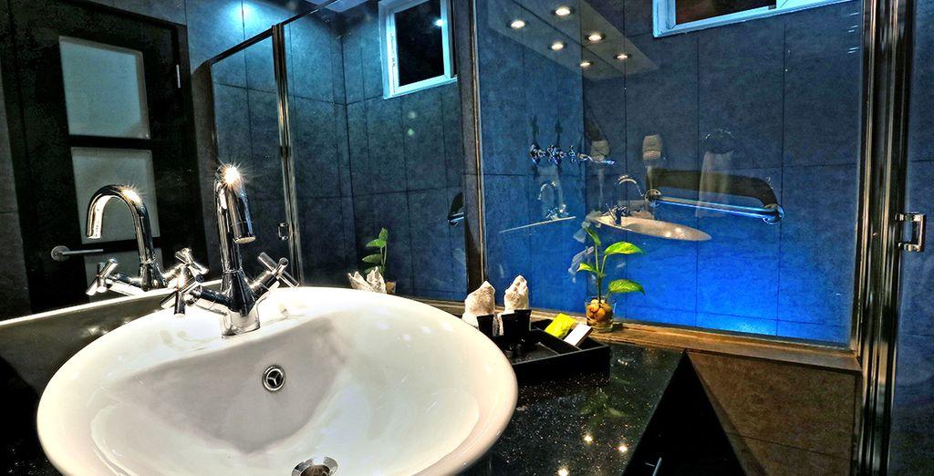 Met een futuristische badkamer