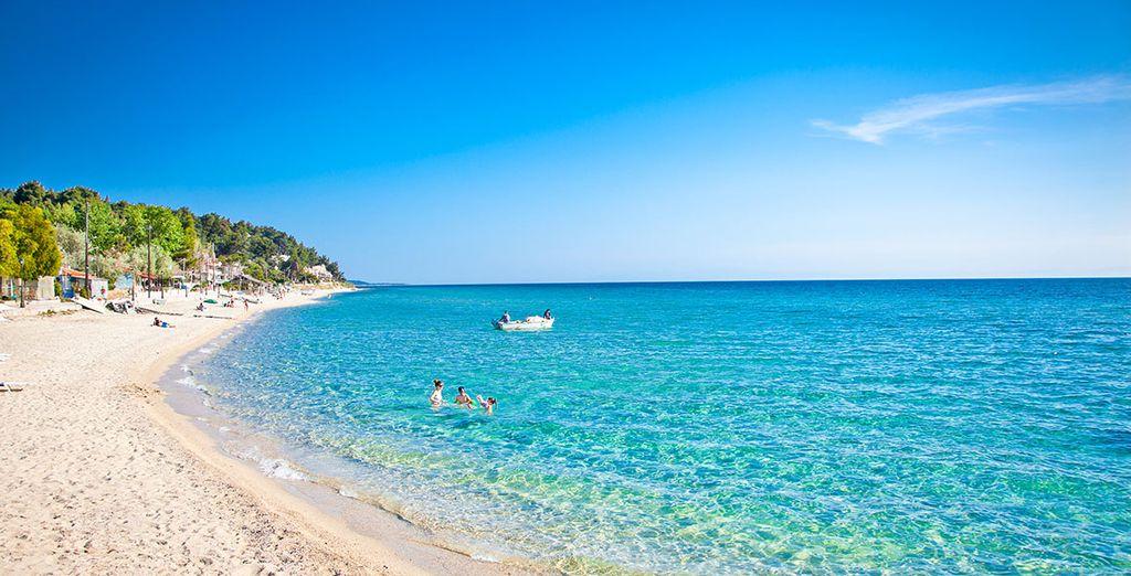 En breng een bezoek aan de paradijselijke stranden van Chalkidiki