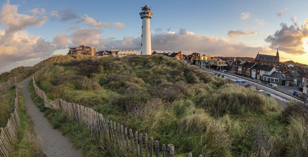 Het strand van Egmond aan Zee is niet ver van uw hotel