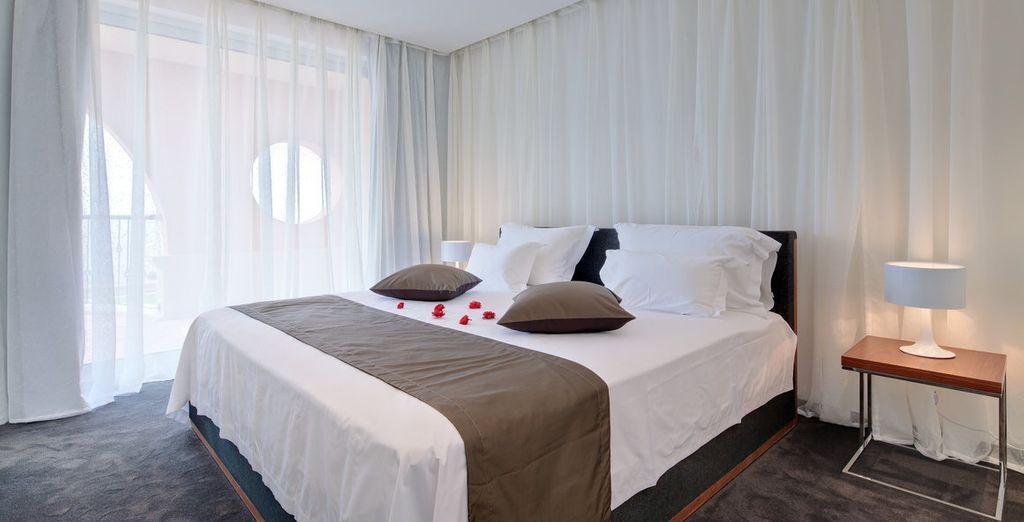 Een mooie en comfortabele kamer staat voor u klaar
