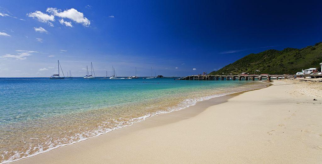 Vlakbij de meest adembenemende stranden van de Antillen