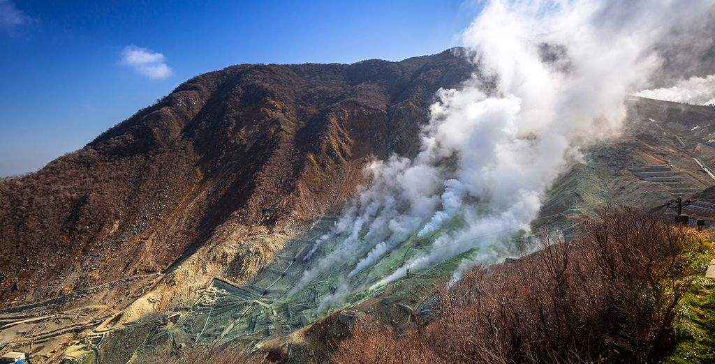 Geniet van het vulkanische grondgebied