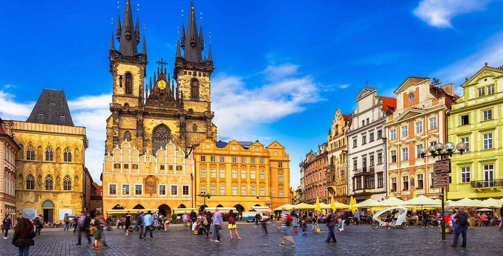 U bent op loopafstand van enkele van de grootste bezienswaardigheden van Praag, zoals het Wenceslasplein