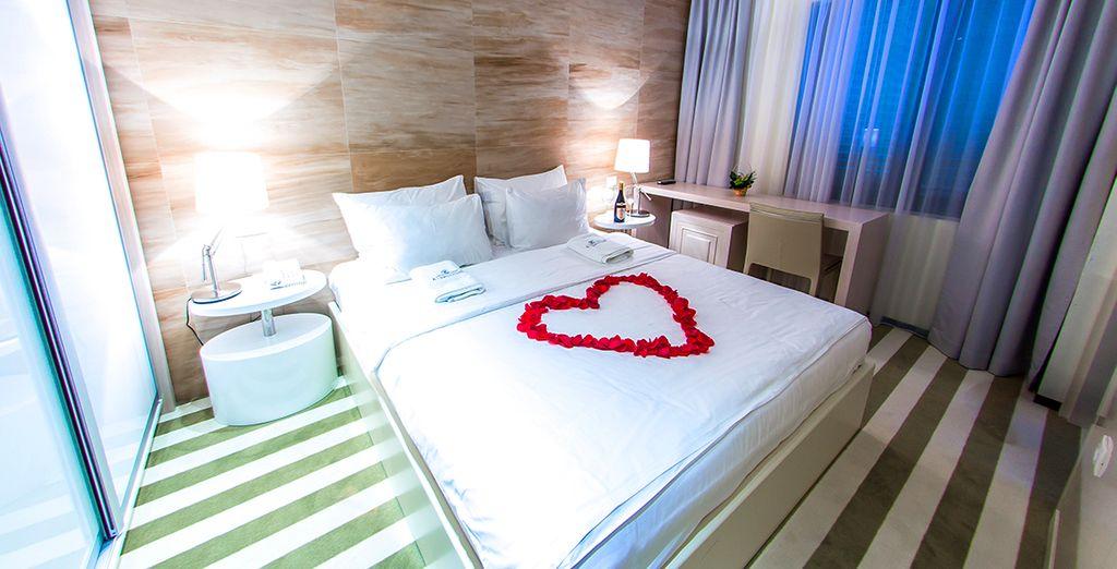 Verblijf in een comfortabele tweepersoonskamer