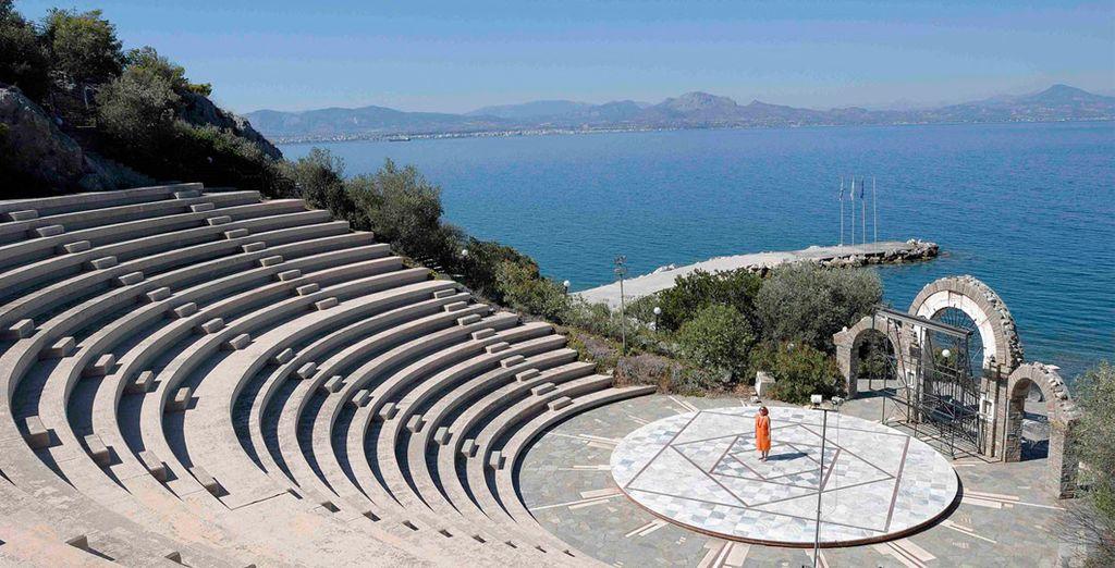 Het resort beschikt over een eigen amfitheater!