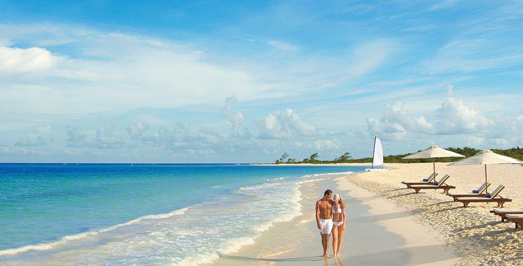 Op een van de mooiste stranden van Mexico?