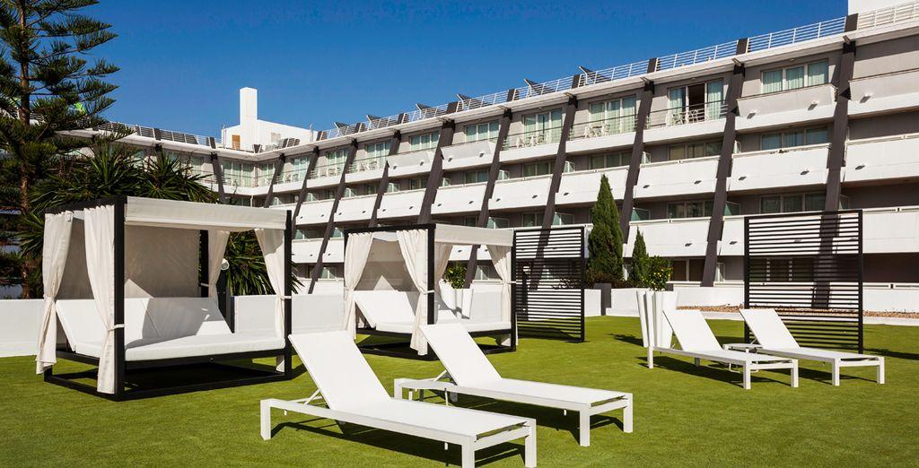 Ontspan op het prachtige hotelterrein