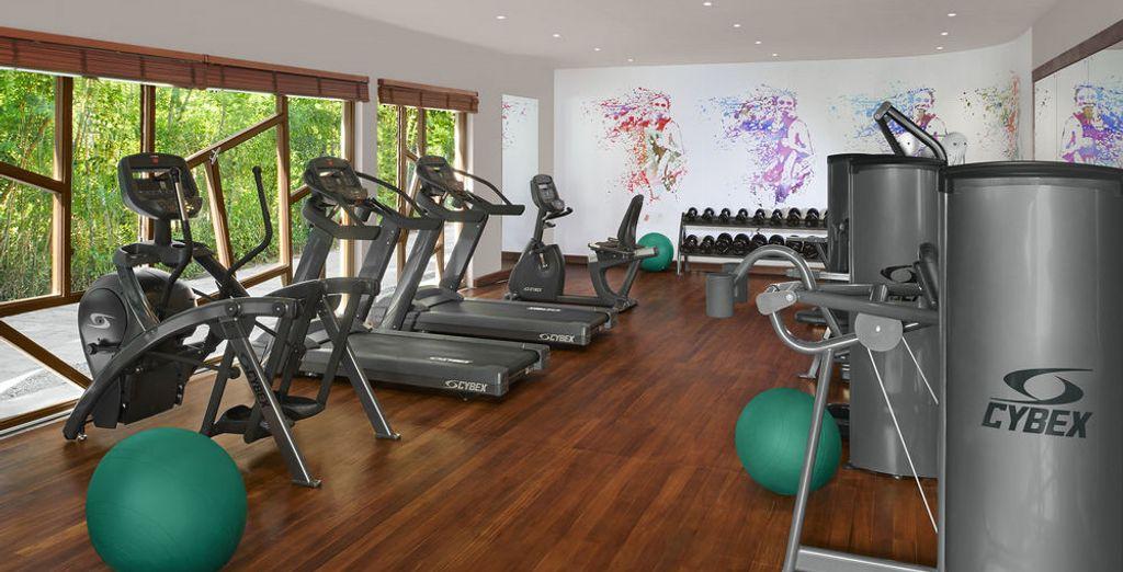 Een kleine work-out in de fitnessruimte