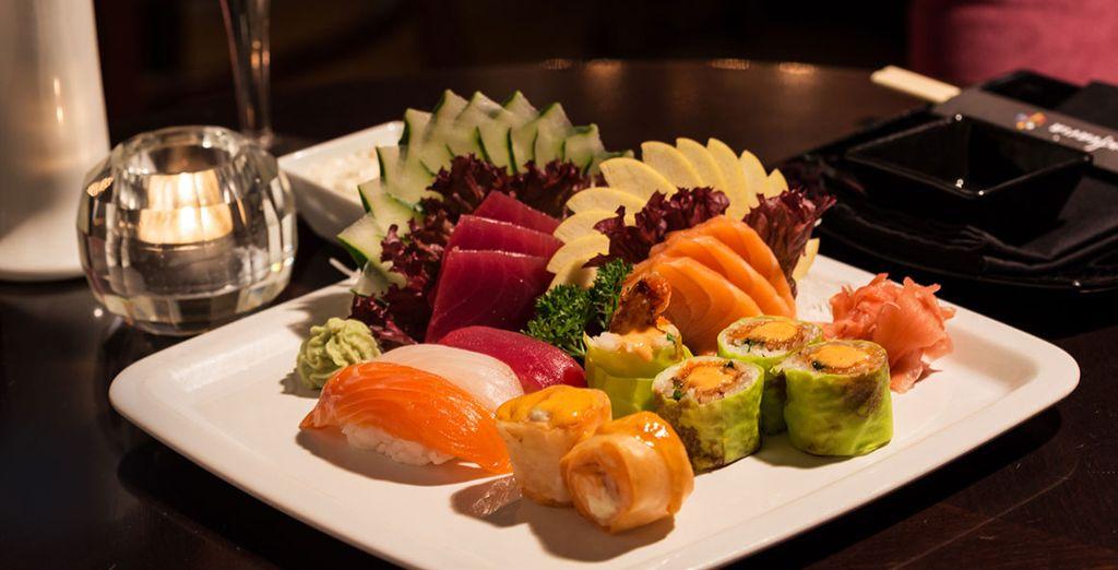 Gekleurde en smakelijke gerechten staan voor u klaar