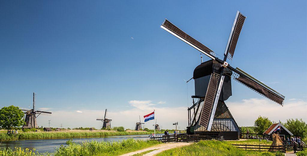 ... en de windmolens van Kinderdijk