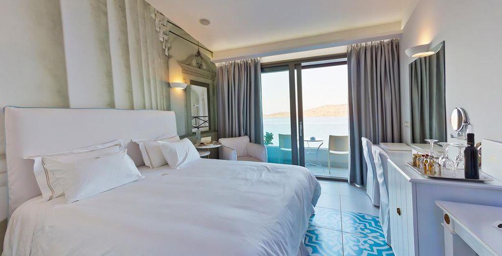 U heeft de keuze uit een Standaard Mediterranean Kamer met zeezicht