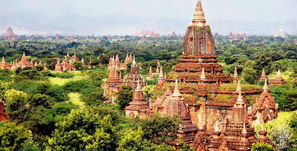 Bagan, de hoofdstad van Myanmar van de 11de tot 13de eeuw